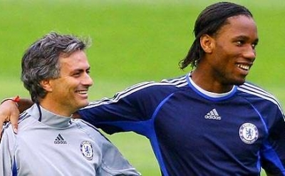 José Mourinho and Didier Drogba at Chelsea