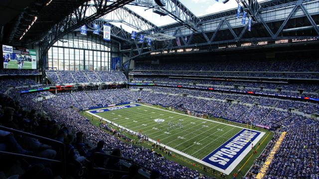 This is the mightily impressive stadium where NFL team Indianapolis Colts play