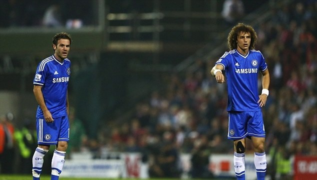 David Luiz and Juan Mata Chelsea 2-0 Swindon 2013