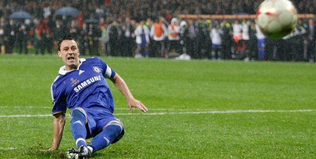 John Terry slip 2008 Champions League final