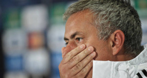 Jose Mourinho walks out of UEFA press conference – video