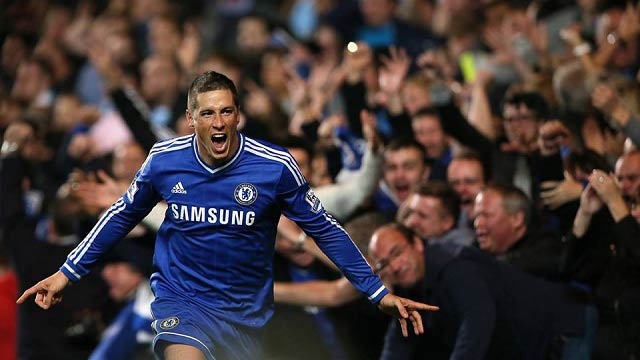 Fernando Torres Chelsea 2-1 at Manchester City 2013
