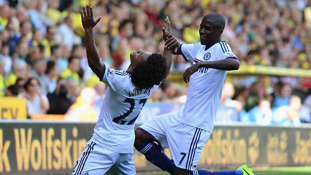 Willian Chelsea goal Norwich 2013