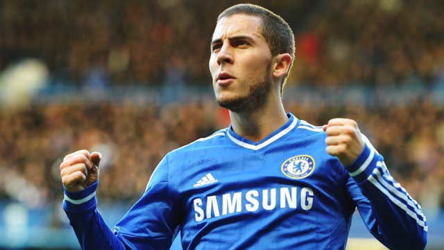 Eden Hazard Newcastle United Chelsea hat-trick 2014