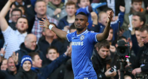 Samuel Eto'o first goal Chelsea vs Arsenal 2014