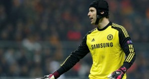 Chelsea's goalkeeper Petr Cech Champions League match against Galatasary