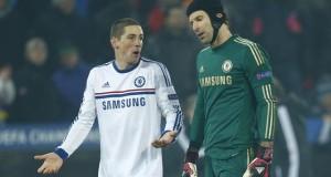 Fernando Torres Petr Cech Chelsea Basel 2013